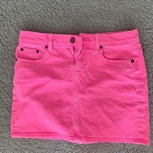 Hot Pink J Crew Jean Mini Skirt